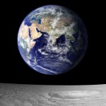 blue marble earth seen from moon