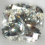 square-cut clear diamond